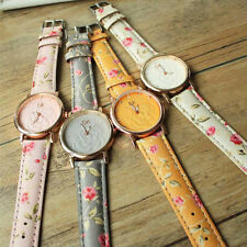 HOT Lady Womens Watches 3D Camellia Diamond Leather Watches Floral Quartz Watch