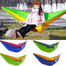 Portable Travel Camping Outdoor Parachute Fabric Hammock Bed for Single Person