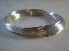 Sterling Silver Filled Wire Round Brass Core .925 1/10 Fill Gauges 14 to 28