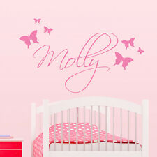 Personalised Butterfly Cluster Wall Sticker Vinyl Transfer Childrens Nursery