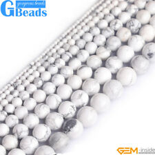 "Natural White Howlite Turquoise Gemstone Round Beads Free Shipping 15"" 4-16mm"