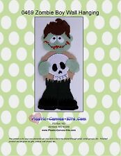 Halloween Zombie Boy Wall Hanging-Plastic Canvas Pattern or Kit