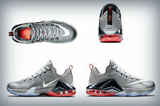 Men's nike  Lebron XII Low Wolf Grey/White-Dark Grey/Hot Lava-Black 724557-014