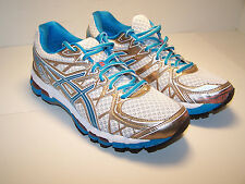 ASICS Gel KAYANO 20 Womens Shoes Running NEW White Island Blue Electric NEW