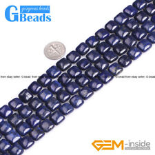 "Square Diagonal Blue Lapis Lazuli Gemstone Beads Free Shipping 15""10mm 12mm 14mm"