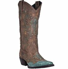 Laredo Women Cross Point Turquoise Western Fashion Cowboy Cowgirl Boots 52032