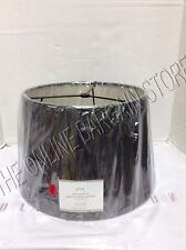 Pottery Barn Tapered Drum Burlap Upholstered Lamp Light Shade MEDIUM Charcoal