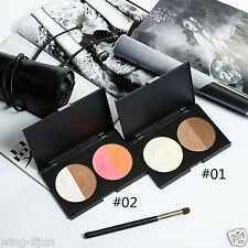 NEW 4 Colors Highlight Contouring Palette Blush&Bronzer Highlight Pressed Powder