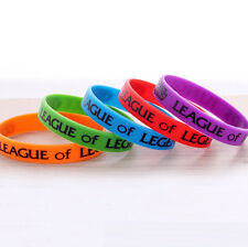 6pcs LOL League of Legends ADC Jungle Support Top Mid Dota 2 Silicone Wristband