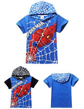 Kids Boys Casual Clothes Superhero Spiderman Hoodies Top Tee T-Shirt Size 4-9Y
