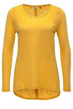 Only Damen Langarmshirt T-Shirt Women Casa Button Top Shirt Mineral Yellow Gelb