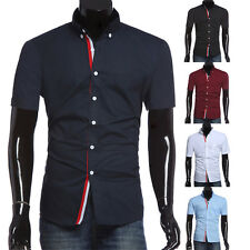 New Men's Summer Casual Short Sleeve Shirts Stylish Dress Shirts T-Shirts Tops