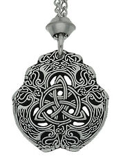 Handmade Eagle Celtic Knot Triquetra Pewter Chain Pendant ~ Protection