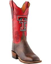 Lucchese CC2500.W8 Womens Tan Brown Madras Goat Texas Tech Cowboy Boots