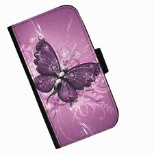 Butterfly Plum Leather wallet phone case for iPhone Samsung Huawei Blackberry