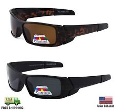 POLARIZED Lens GASCAN Sunglasses Wrap Around Fishing Hunting Glasses