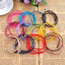 "New Silk Organza Ribbon Necklace Strap wax Cord 18"" Chain Lobster Clasp 10pcs"