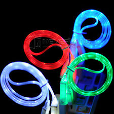 LED Light Micro USB Charger Data Sync Cable Cord for Android Samsung Sony hTC LG