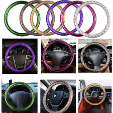 Auto Car Steering Wheel Cover Cap Soft Anti-slip M Size Skidproof Leatherette 1X