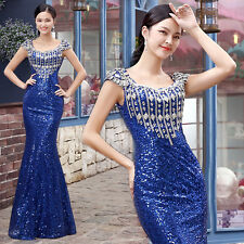 New Sexy Formal Wedding Prom Party Bridesmaid Evening Ball Gown Dress