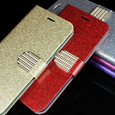For LG Leon C40 Tribute 2 Risio Sunset Power PU Leather Glitter Wallet Flip Case