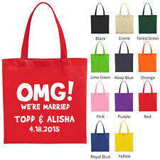 Personalized custom tote bags Wedding Favors Gift Bag (1910)