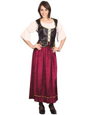 New Ladies Medieval Tavern Beer Wench Victorian Tudor Pirate Fancy Dress Costume