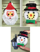 Collections Etc Outdoor Holiday Porch Light Covers - Set Of 2