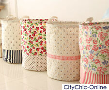 D35 x H45CM Country Rose Storage Laundry Hamper Clothes Basket Toy Bucket Bin