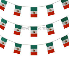 MEXICAN BUNTING HUGE 400 FT PARTY EVENT FLAG DECORATION 240 FLAGS 120 M MEXICO