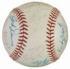 CHICAGO CUBS 1982 TEAM SIGNED OFFICIAL BALL JENKINS BOWA SANDBERG SMITH DURHAM +