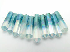 Aqua Angel Aura Quartz 1 Faceted Double Terminated Point Crystal Choose Size