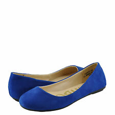 Women's Shoes Bamboo Standouts 30 Round Toe Ballet Flats Blue *New*