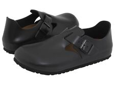 Men's Birkenstock Clogs Soft Footbed London Hunter Black Leather