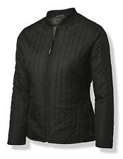 New Womens Nimbus Black Vertical Quilted Look Knitted Collar Jacket Size XS-XL