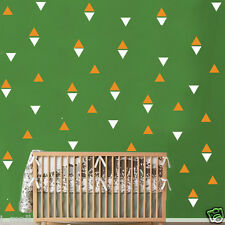 120 Triangles in 2 Colour ways removable wall stickers for Nursery or kids room
