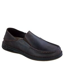 Birkenstock Mens DUMA Dark Brown Oiled Leather Loafers Casual Shoes 41041