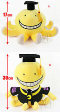 Assassination Classroom Octopus Korosensei cotton stuffed plush doll 2 types!