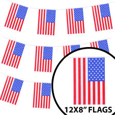 HUGE 200FT USA BUNTING LARGE AMERICAN FLAG DECORATION 60 METRES STARS & STRIPES