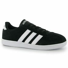Adidas VL Court Suede Mens Shoes Trainers Sneakers Sports Footwear Black/White