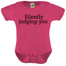 Silently Judging You Onesie ORGANIC Cotton Romper Baby Shower Gift Funny Present