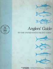 1977 Anglers Guide to the United State Pacific Coast US Department of Commerce