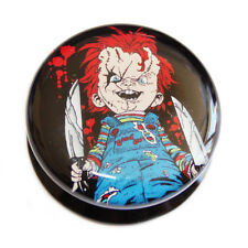 HALLOWEEN PLUGS: Chucky Doll Acrylic Screw-fit Plug plugs Tunnels Childs Play