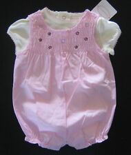 NWT: New First Moments Pink Flower Layette Outfit Set, 0-3 or 3-6 month, Rtl $24