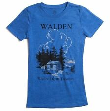 Out Of Print Walden Henry David Thoreau LIC Women's T-Shirt - Blue