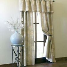 """Cindy Crawford OMBRE FLORAL Rod Pocket Lined Curtain Drapery Pair 84""""L"""