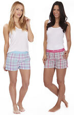 FOREVER DREAMING Ladies Woven Lounge Shorts Pyjama Jacquard Waistband S-XL
