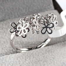 Fashion Flowers Ring 18KGP Size 5.5-8