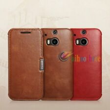 ICARER Genuine Real Leather Wallet Flip Vintage Case Cover Skin For HTC One M8