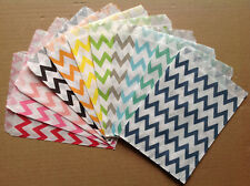 25 Favor Food Oil Paper Party Bags Colorful Chevron Striped Craft Bags For Party